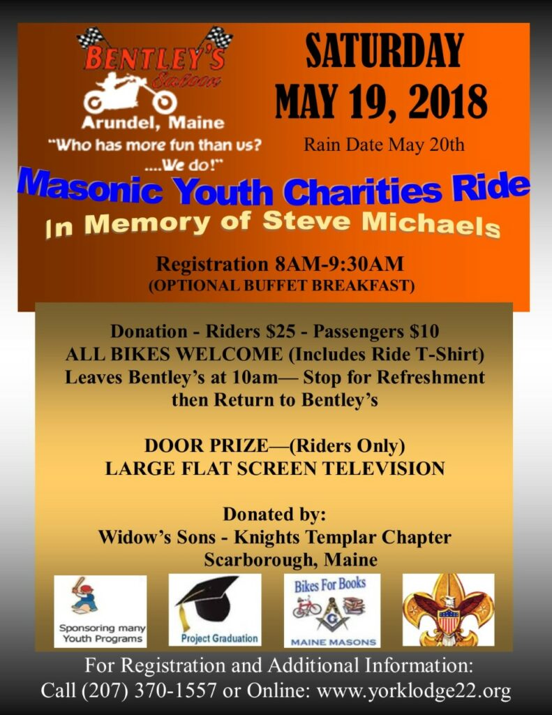 MAY EVENT - BENEFIT RIDE