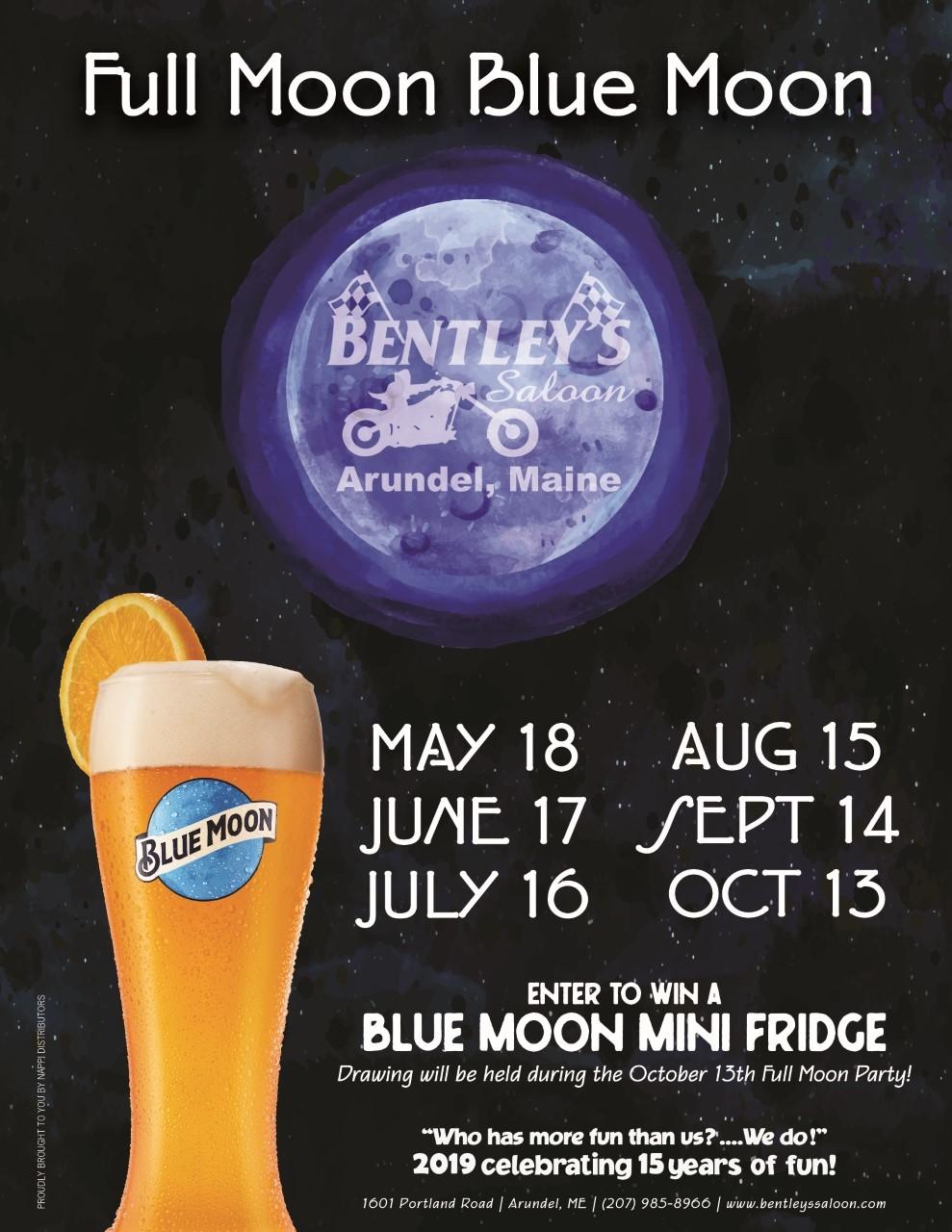 BLUE MOON FULL MOON - Bentley's Saloon