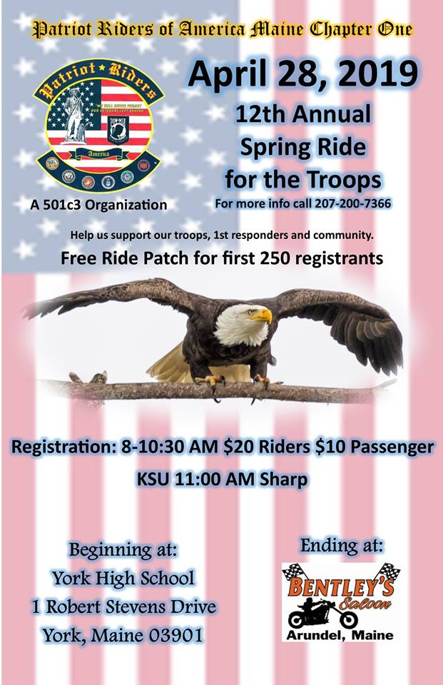 APRIL EVENT - FIRST BENEFIT RIDE OF THE SEASON
