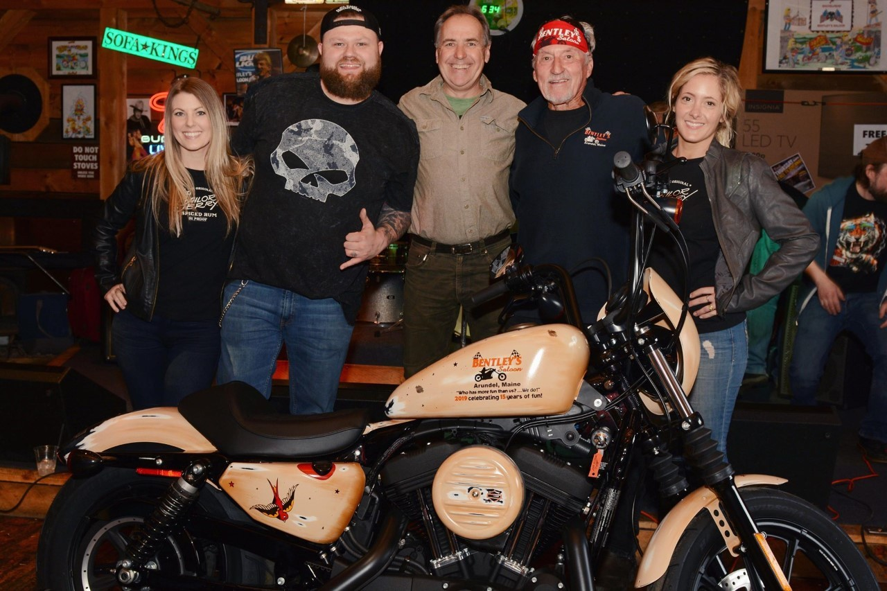 bike with sailor jerry