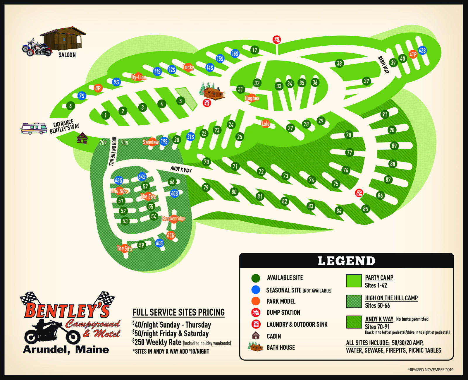 2019 Bentleys Campground Map_rev11_19