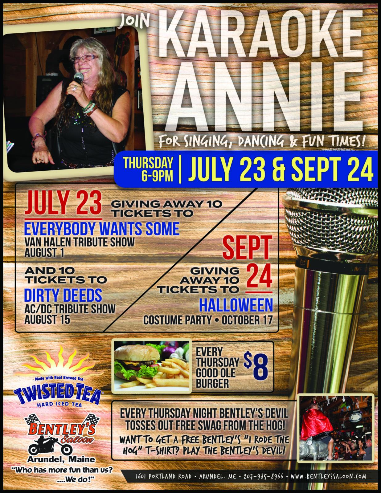2020 Karaoke Annie