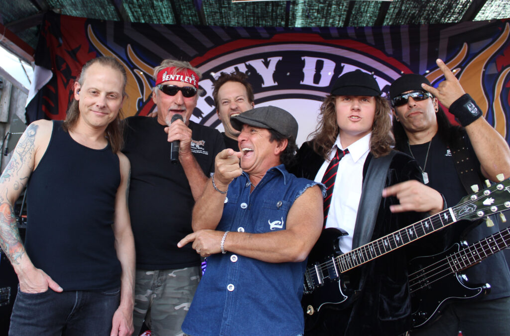 bentley with band laughing